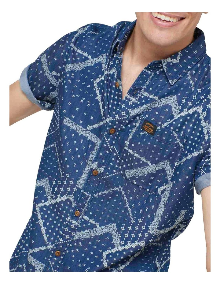 Short Sleeve Workwear Shirt patchwork Geo image 1
