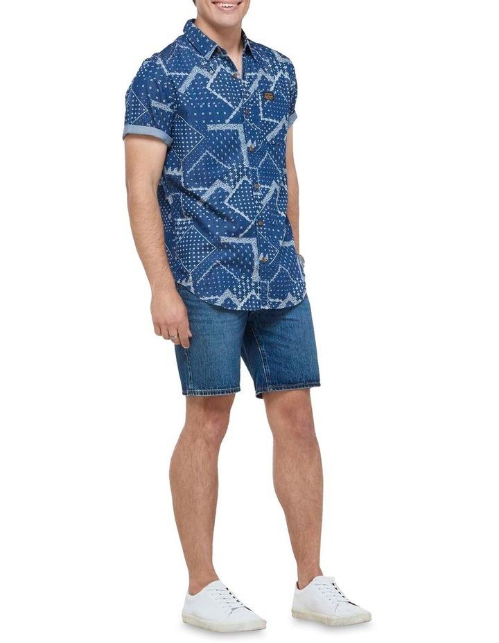 Short Sleeve Workwear Shirt patchwork Geo image 2