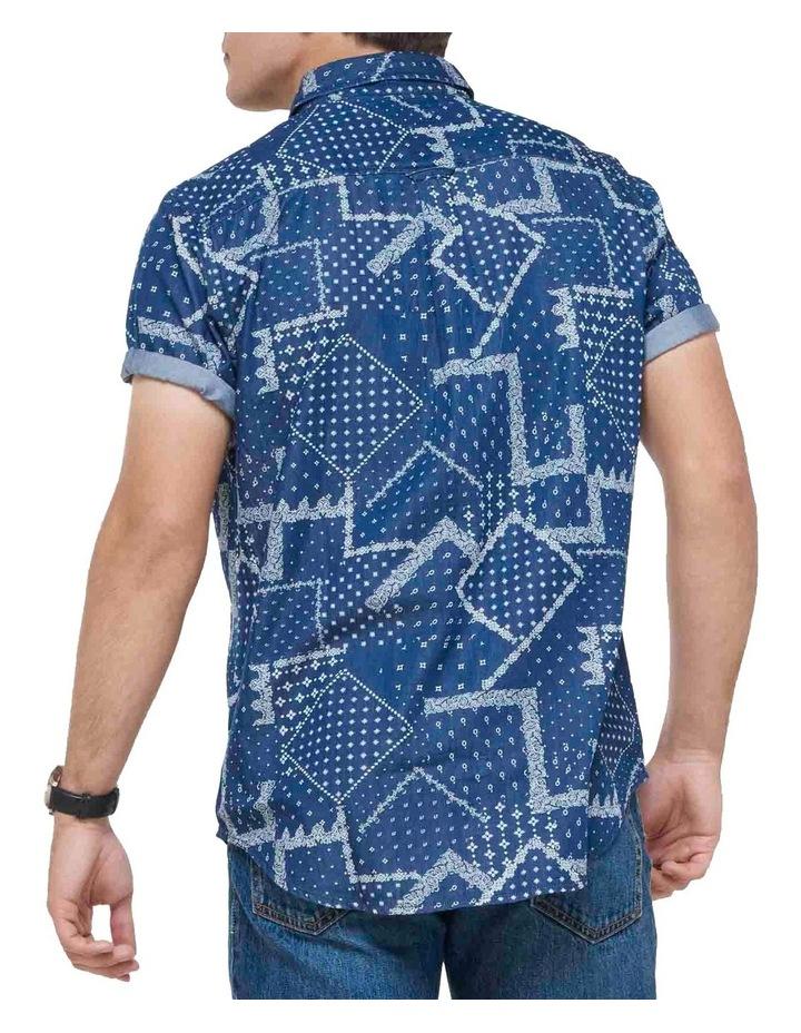 Short Sleeve Workwear Shirt patchwork Geo image 4