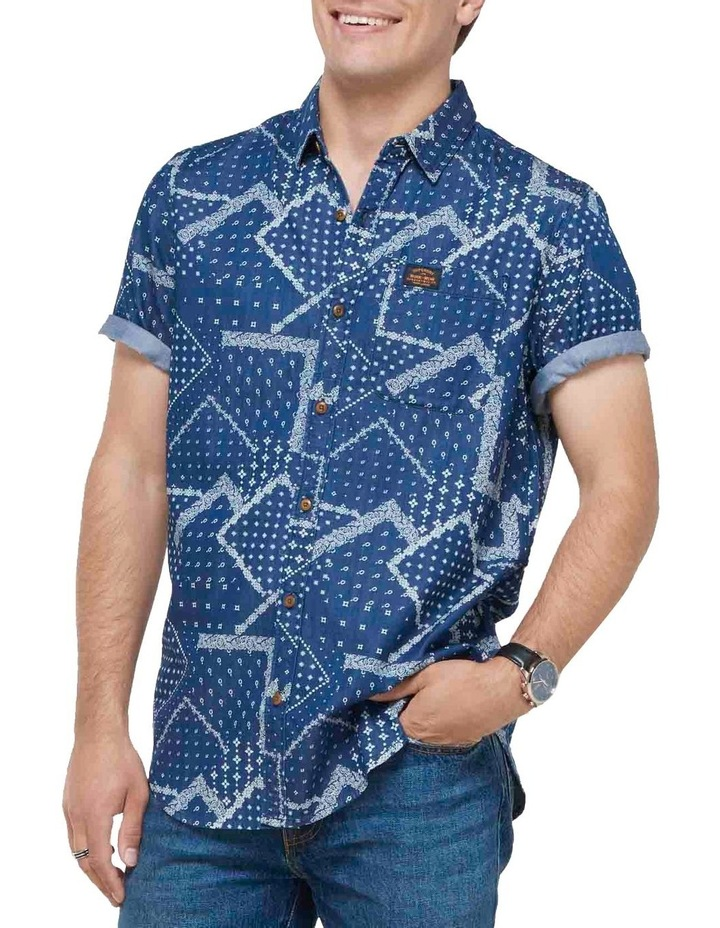 Short Sleeve Workwear Shirt patchwork Geo image 5