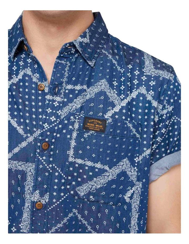 Short Sleeve Workwear Shirt patchwork Geo image 6