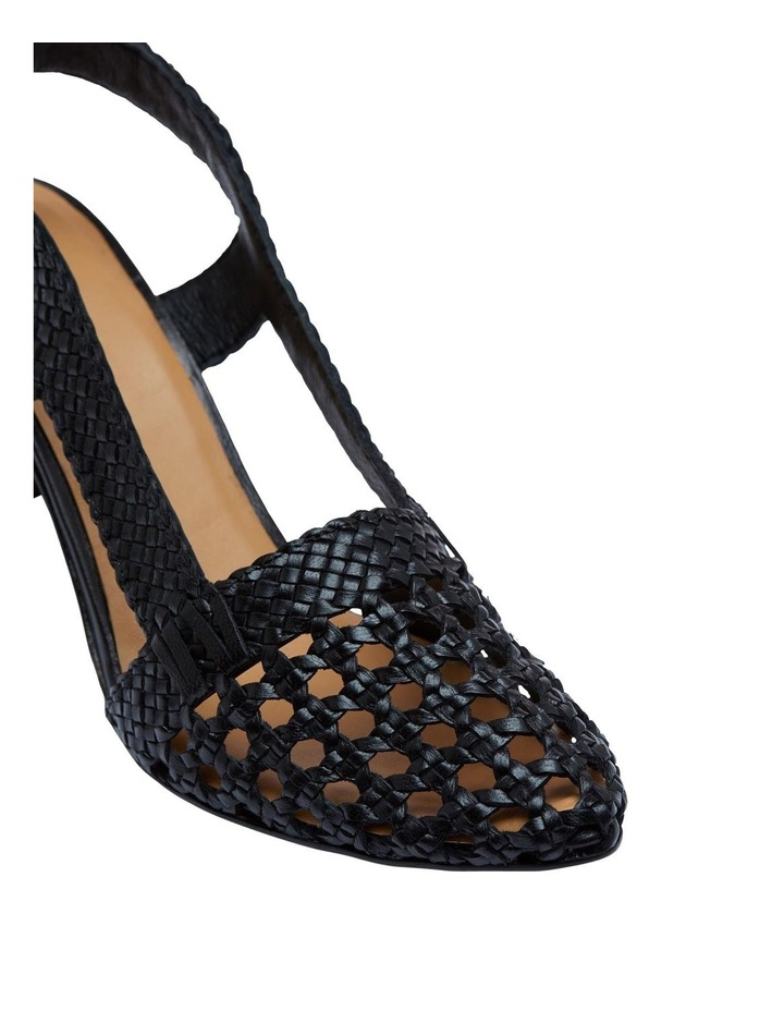 Mabel Leather Woven Shoe image 4