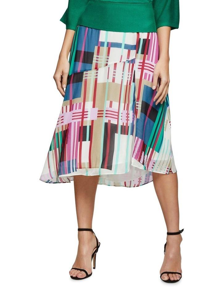 Billy Stripe Print Skirt X image 1