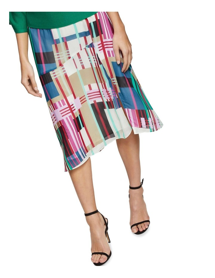 Billy Stripe Print Skirt X image 4