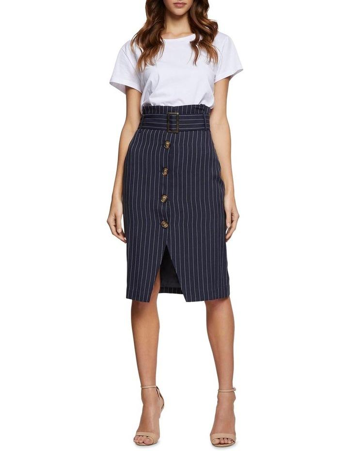 Chrissy Pinstripe Paperbag Skirt image 5