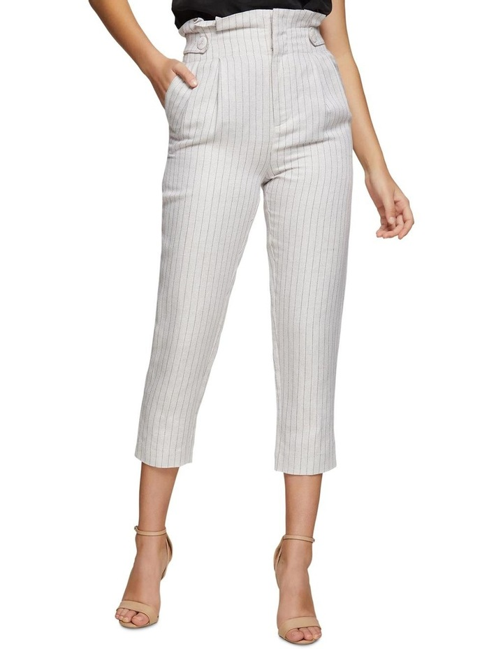 Evie Pinstripe Paperbag Trousers image 1