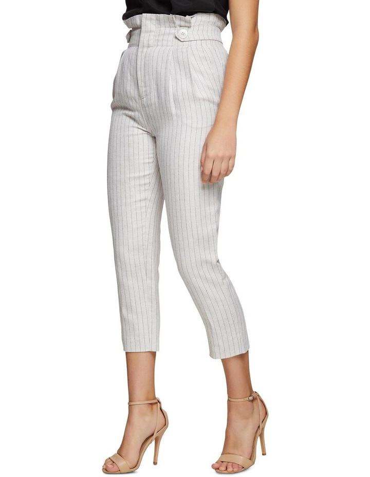 Evie Pinstripe Paperbag Trousers image 2
