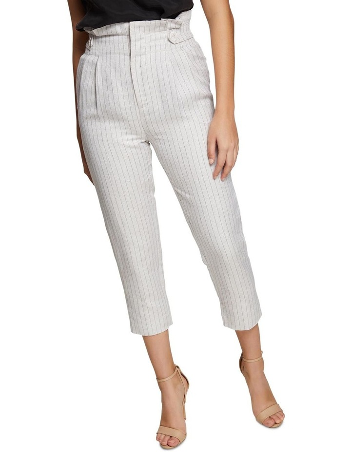 Evie Pinstripe Paperbag Trousers image 4