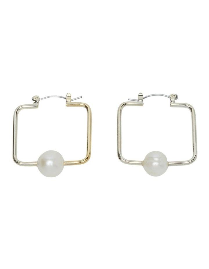 Bonita Square Pearl Earrings image 1