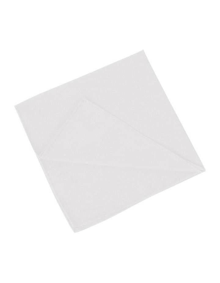 Pocket Square Cotton Wht image 1
