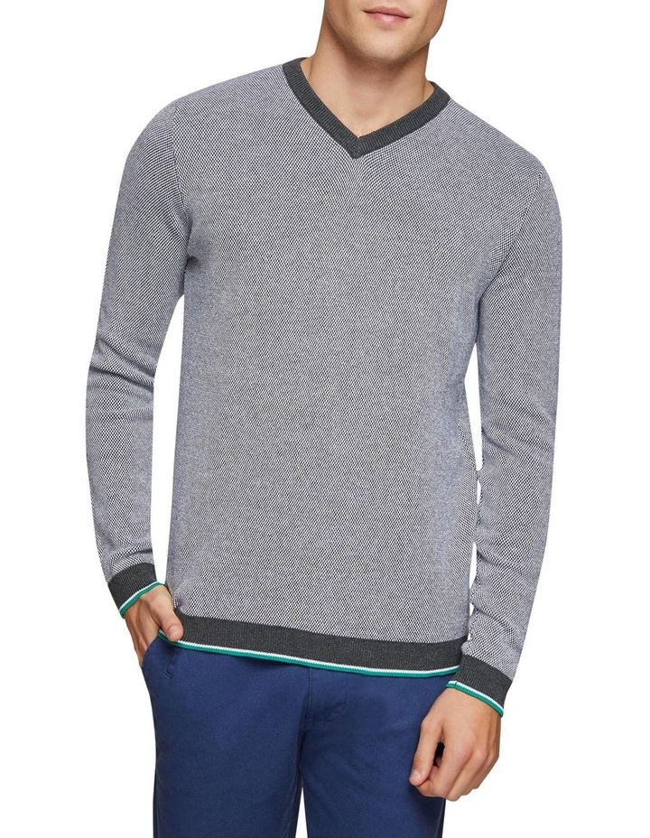 Callum Cotton Silk V-Neck Pullover image 1