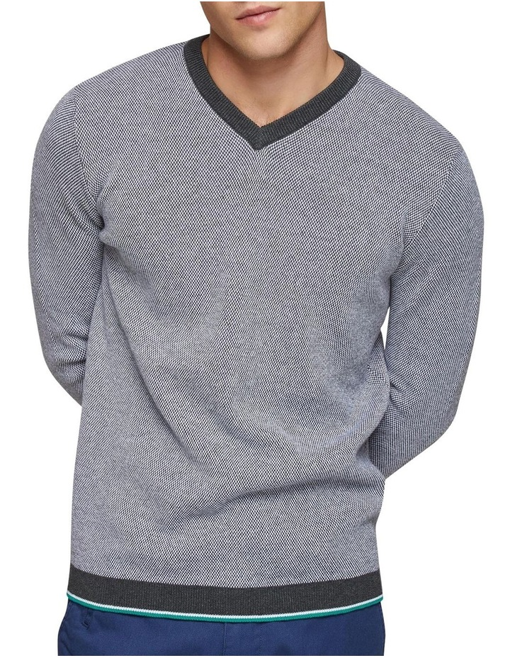 Callum Cotton Silk V-Neck Pullover image 4