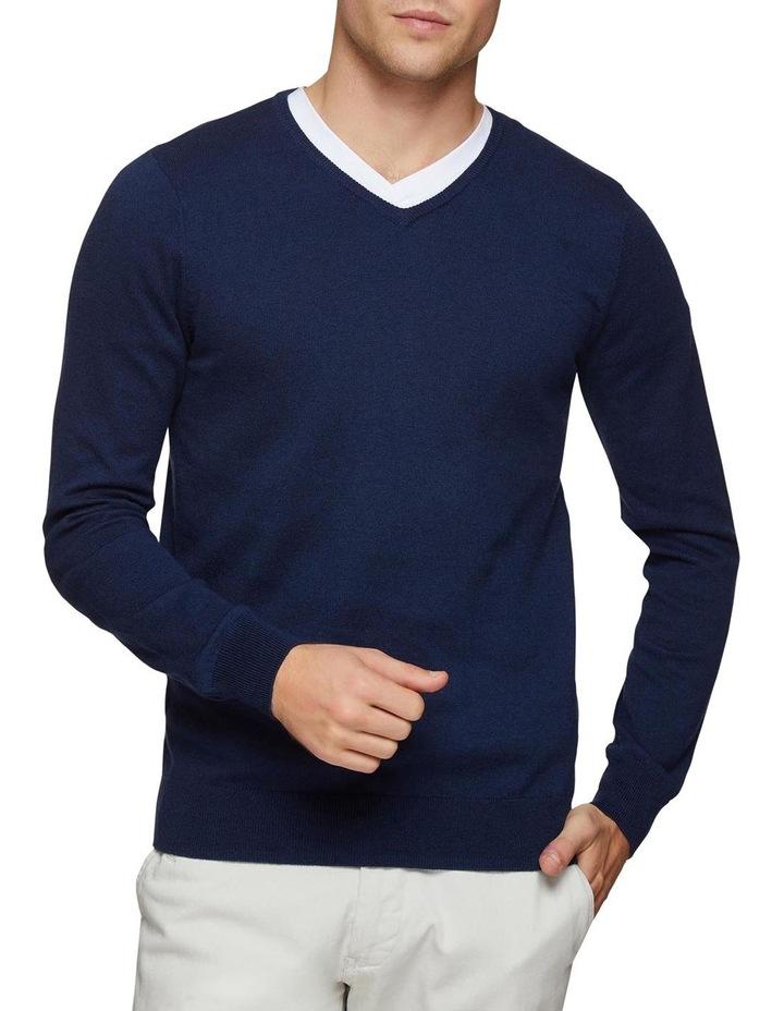Cotton Cashmere V-Neck Pullover image 1