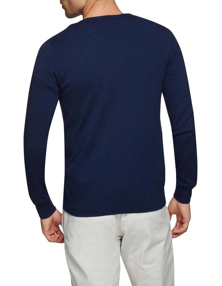 Cotton Cashmere V-Neck Pullover image 3