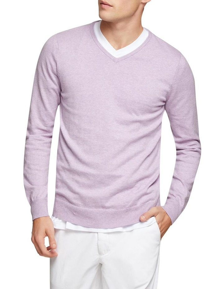 Cotton Cashmere V-Neck Pullover image 1