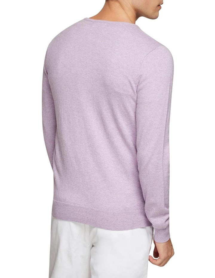 Cotton Cashmere V-Neck Pullover image 3