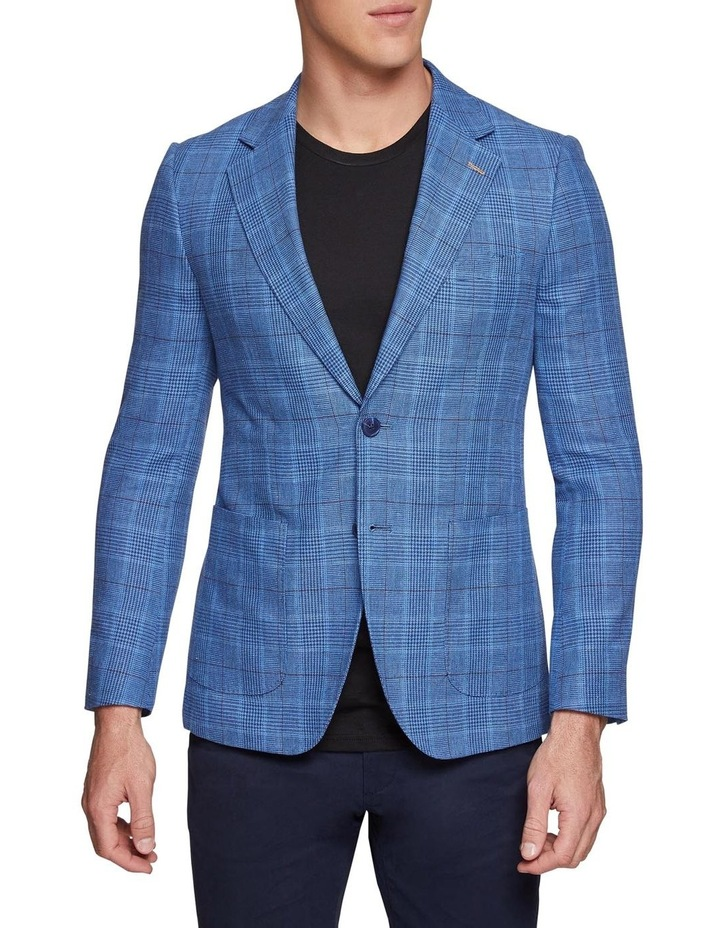 Blake Linen Cotton Checked Blazer X image 1