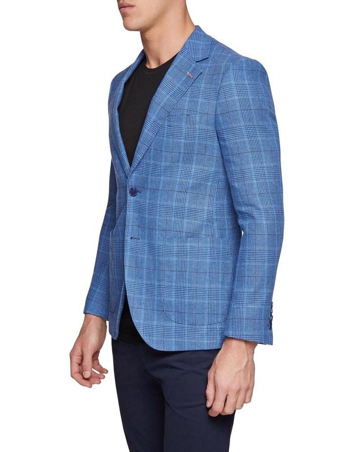 Blake Linen Cotton Checked Blazer X image 2