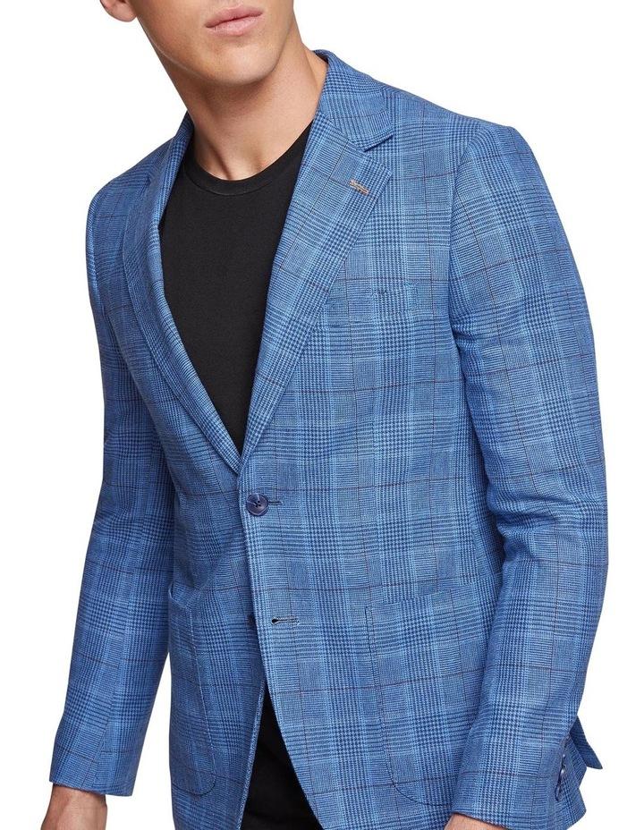 Blake Linen Cotton Checked Blazer X image 4