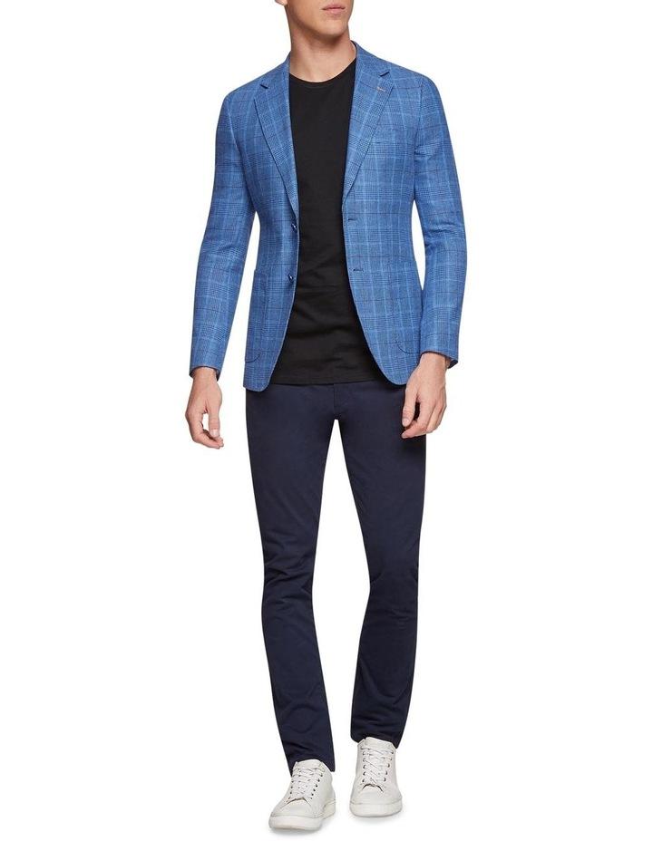 Blake Linen Cotton Checked Blazer X image 5