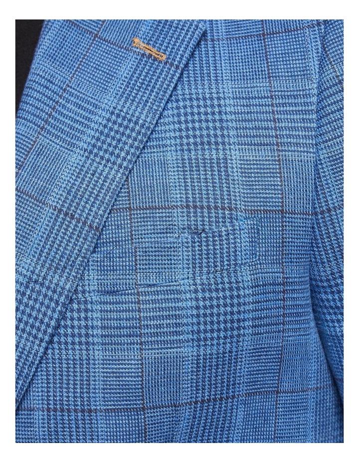 Blake Linen Cotton Checked Blazer X image 6
