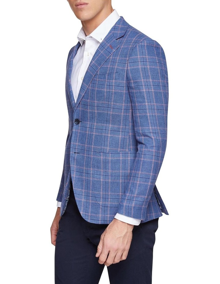 Blake Linen Cotton Checked Blazer image 2