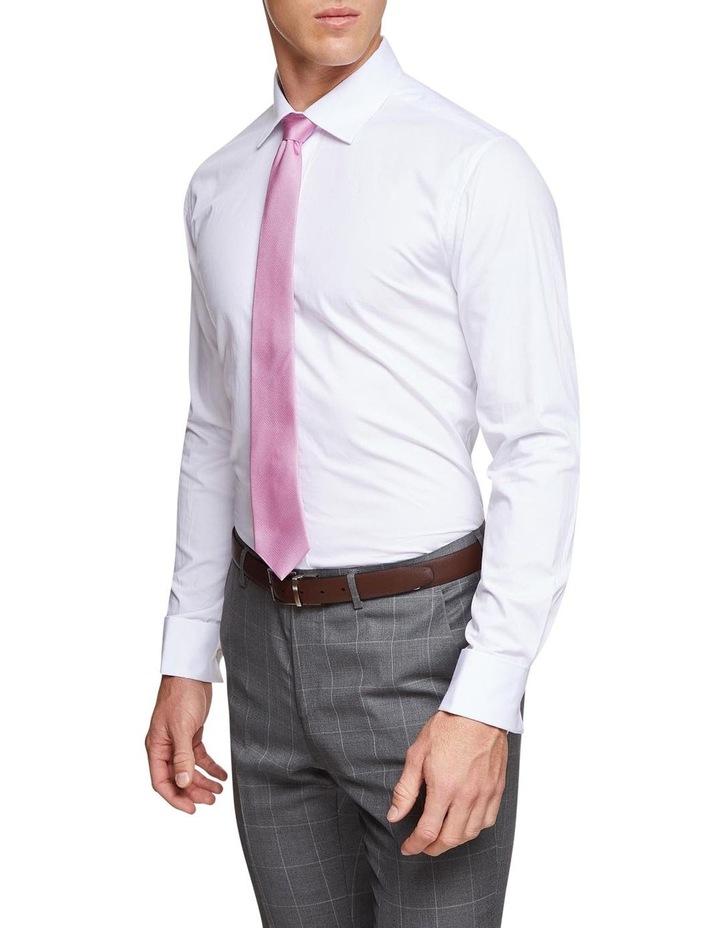 Islington French Cuff Dobby White Shirt image 2
