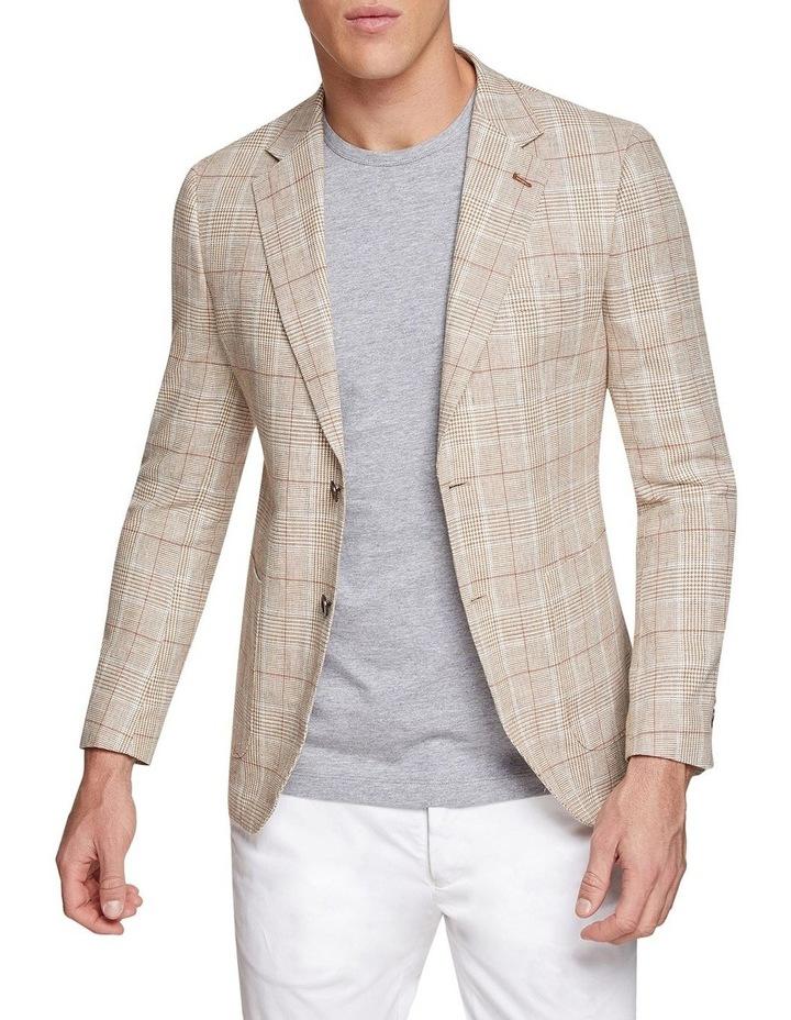 Blake Linen Cotton Checked Blazer image 1