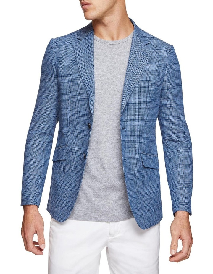 Blake Linen Cotton Checked Blazer image 1