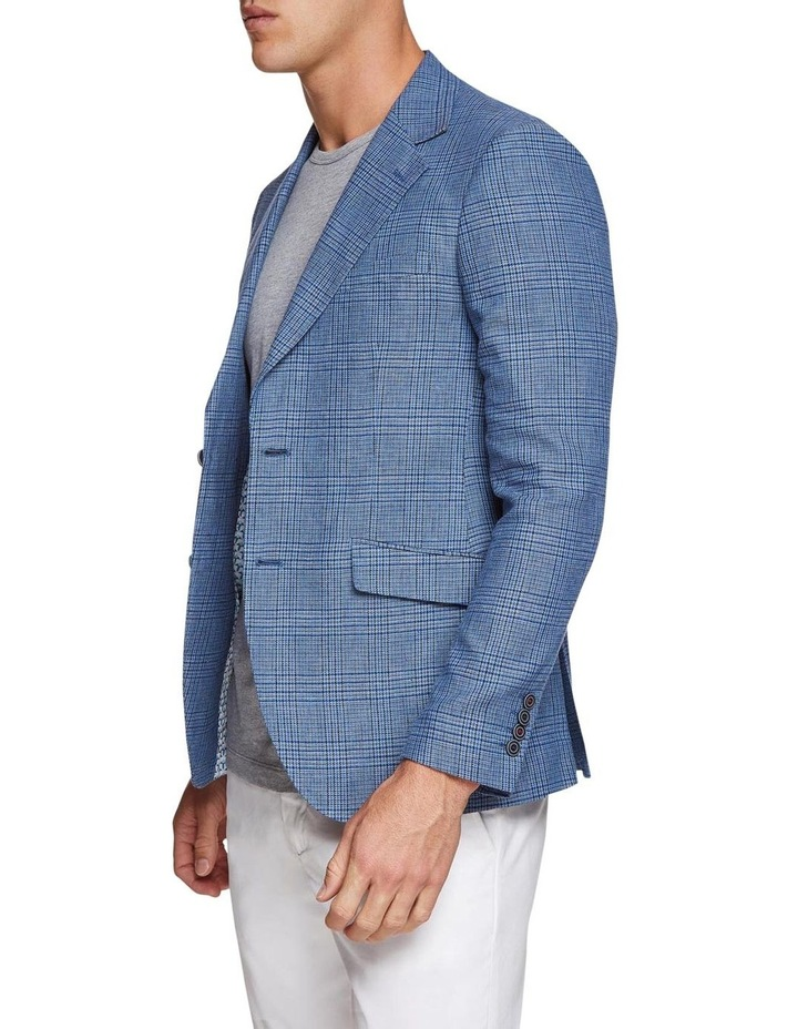 Blake Linen Cotton Checked Blazer image 2