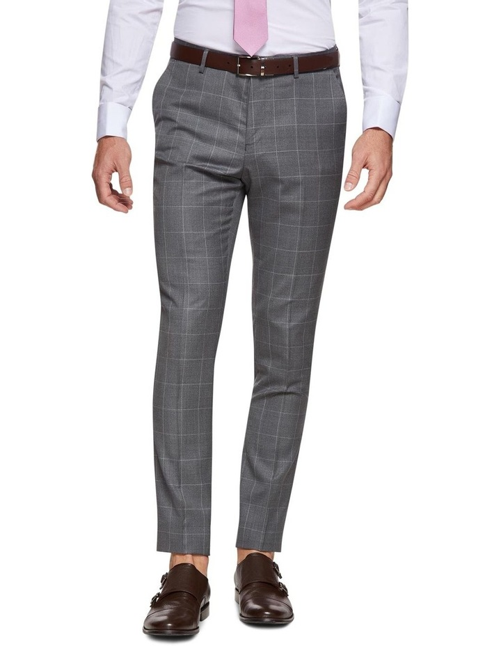 Byron Wool Stretch Checked Trousers image 1