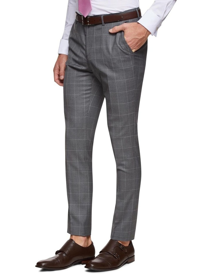 Byron Wool Stretch Checked Trousers image 2