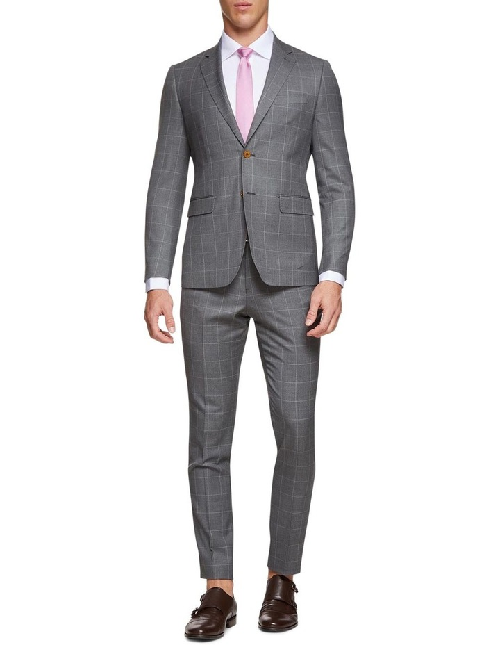 Byron Wool Stretch Checked Trousers image 5