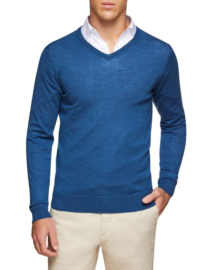 V-neck Pure Merino Wool Pullover image 1