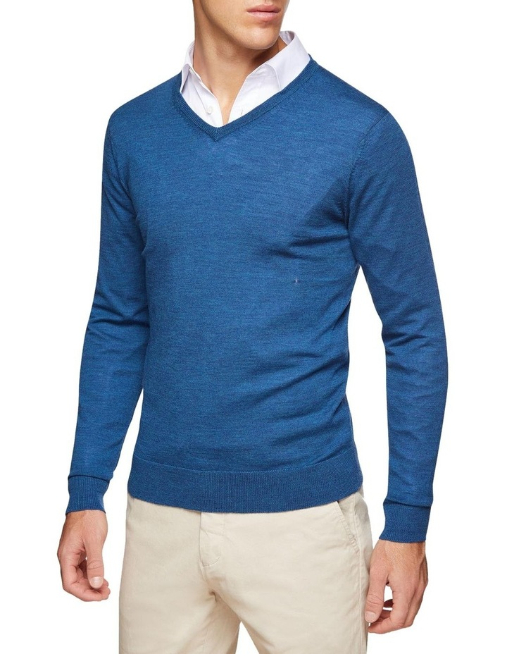 V-neck Pure Merino Wool Pullover image 2
