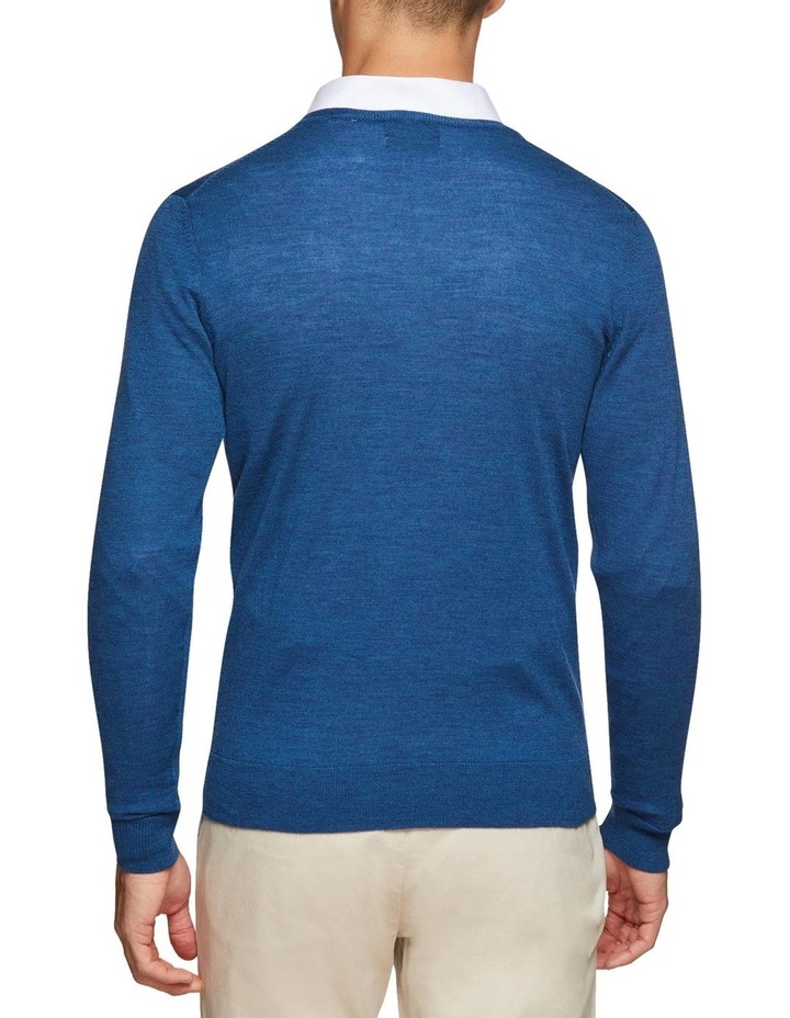 V-neck Pure Merino Wool Pullover image 3