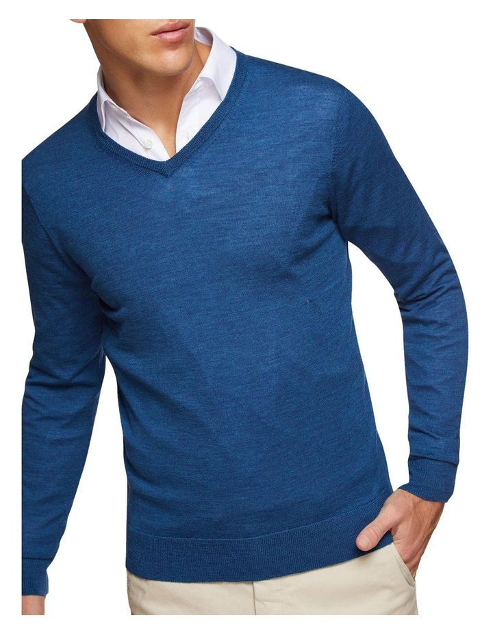 V-neck Pure Merino Wool Pullover image 4