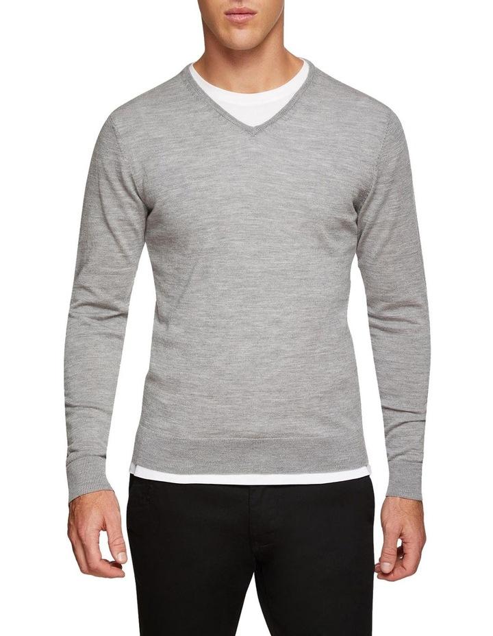 V-Neck Pure Merino Wool Pullover image 1