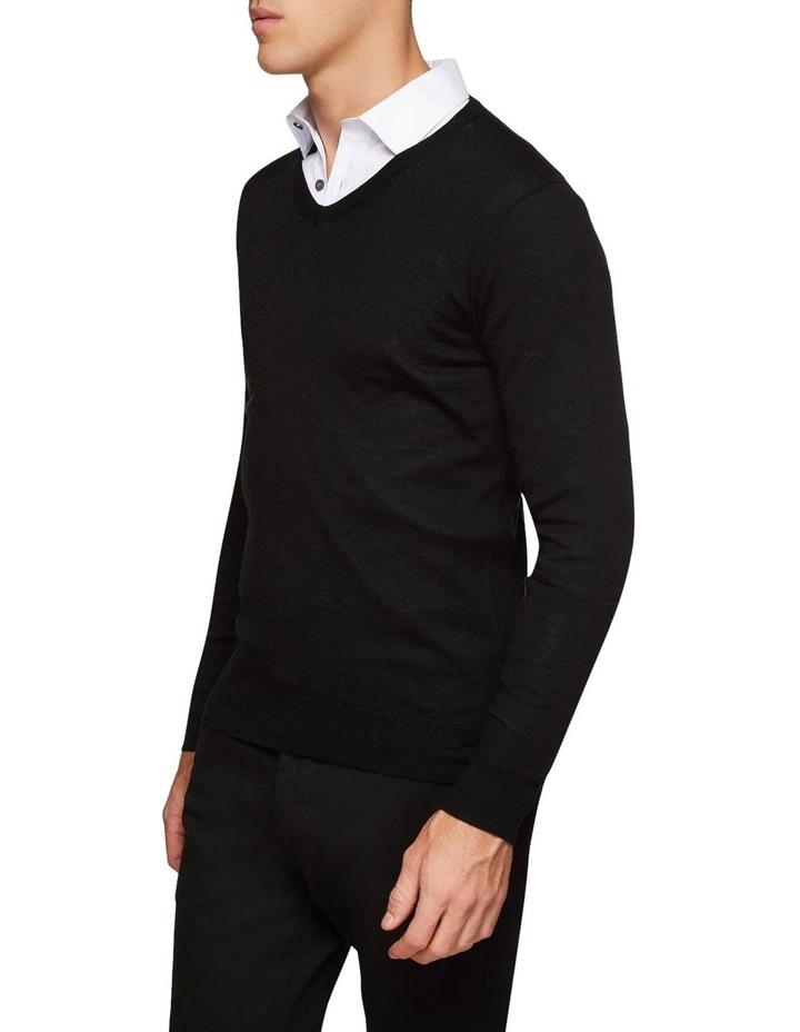 V-Neck Pure Merino Wool Pullover image 2