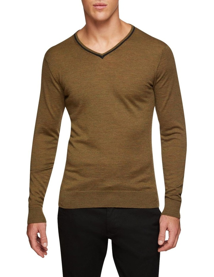 Perry Tipping V-Neck Wool Pullover image 1