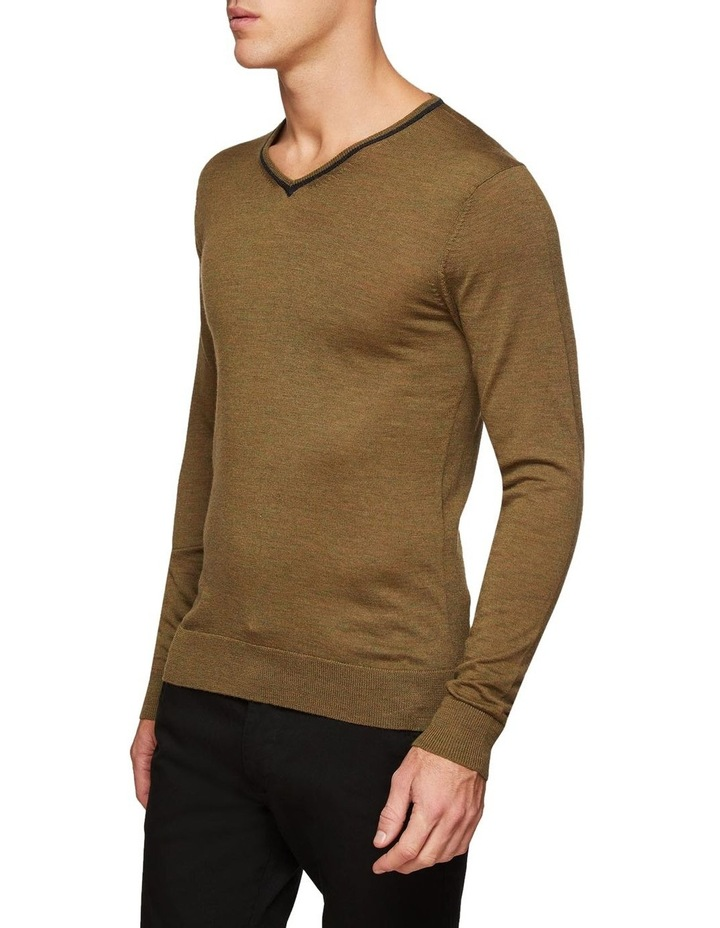 Perry Tipping V-Neck Wool Pullover image 2