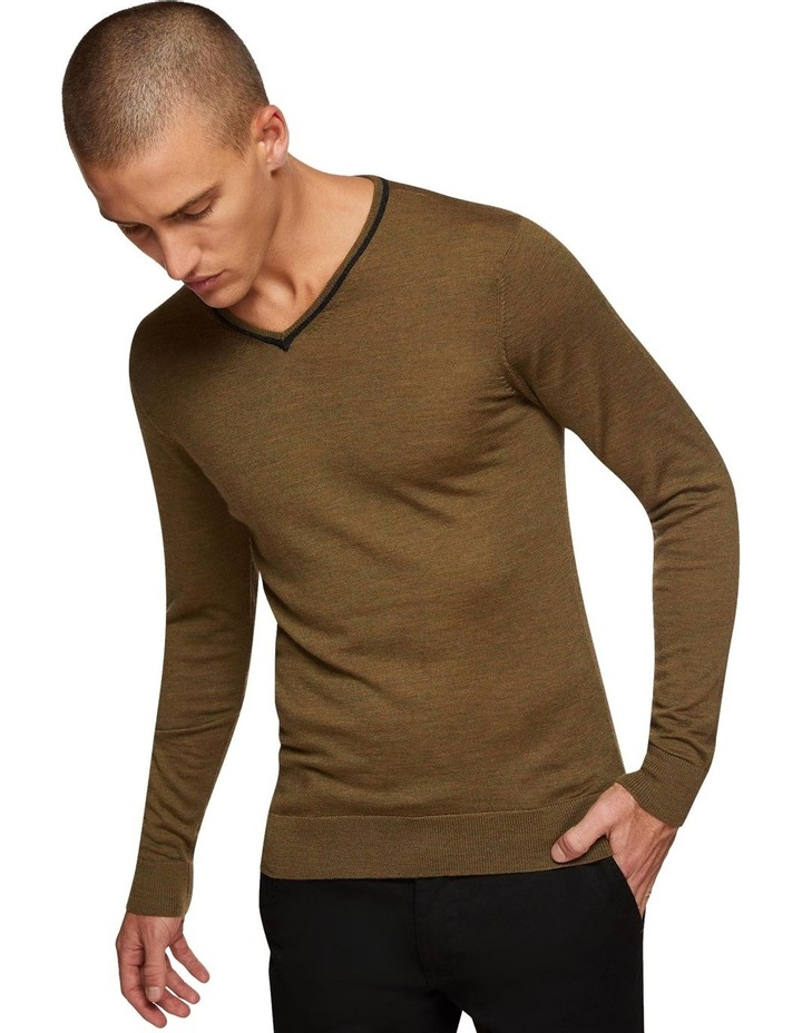 Perry Tipping V-Neck Wool Pullover image 4