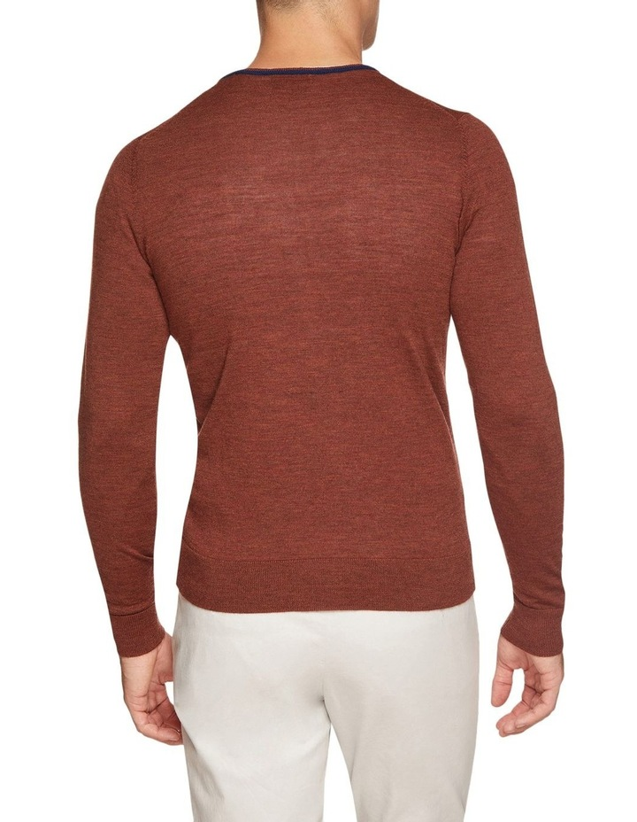 Perry Tipping V-Neck Wool Pullover image 3