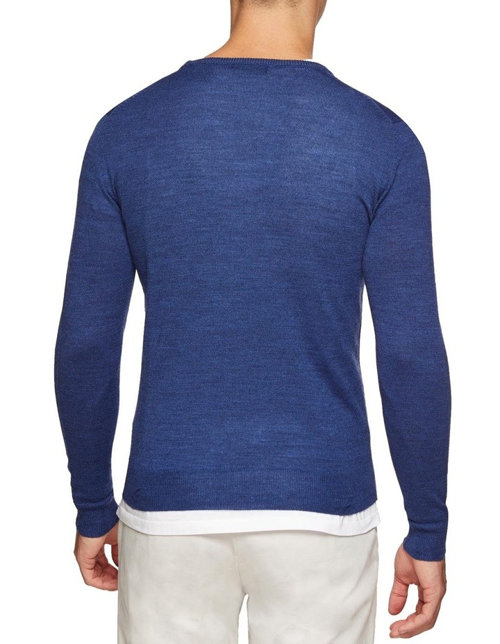 Crew Neck Wool Blend Pullover image 3