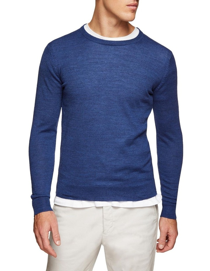 Crew Neck Wool Blend Pullover image 4