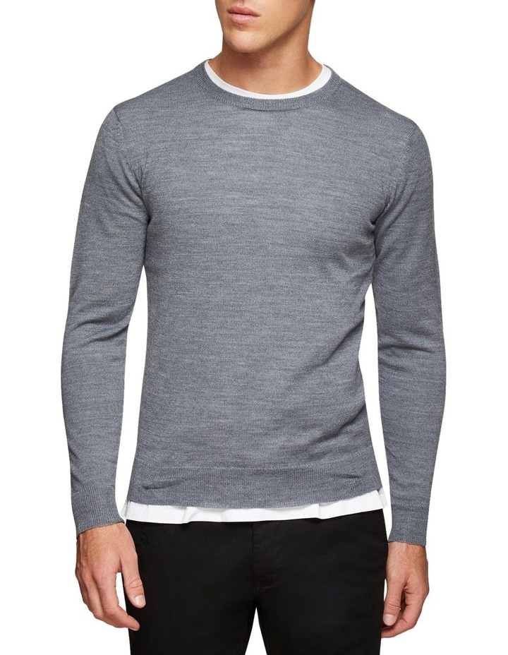 Crew Neck Wool Blend Pullover image 1