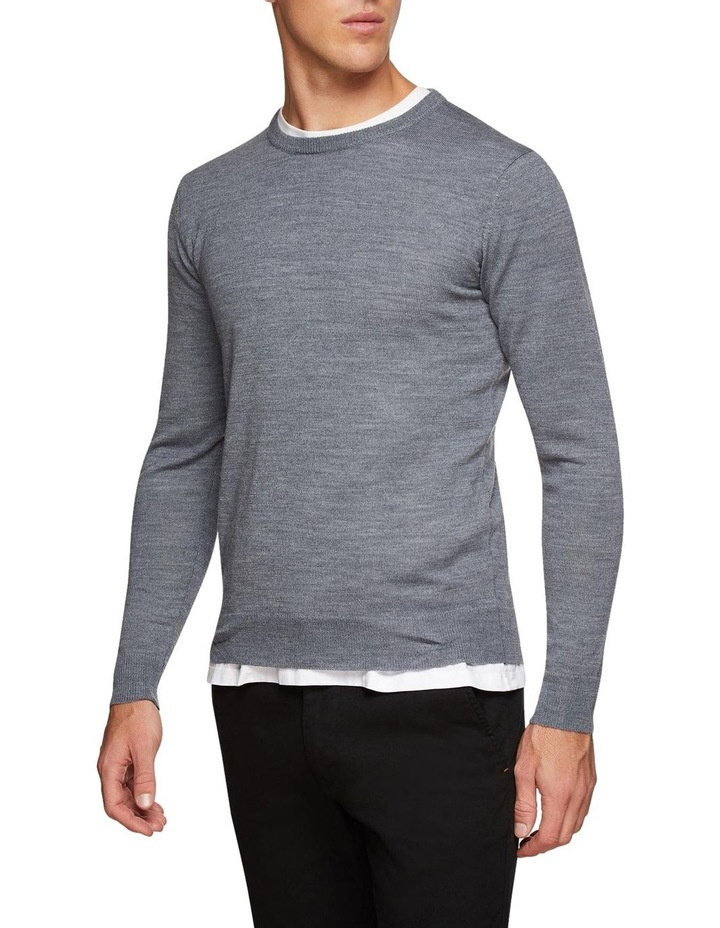 Crew Neck Wool Blend Pullover image 2