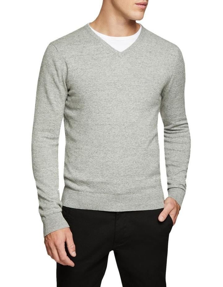 Cotton V-Neck Pullover image 1