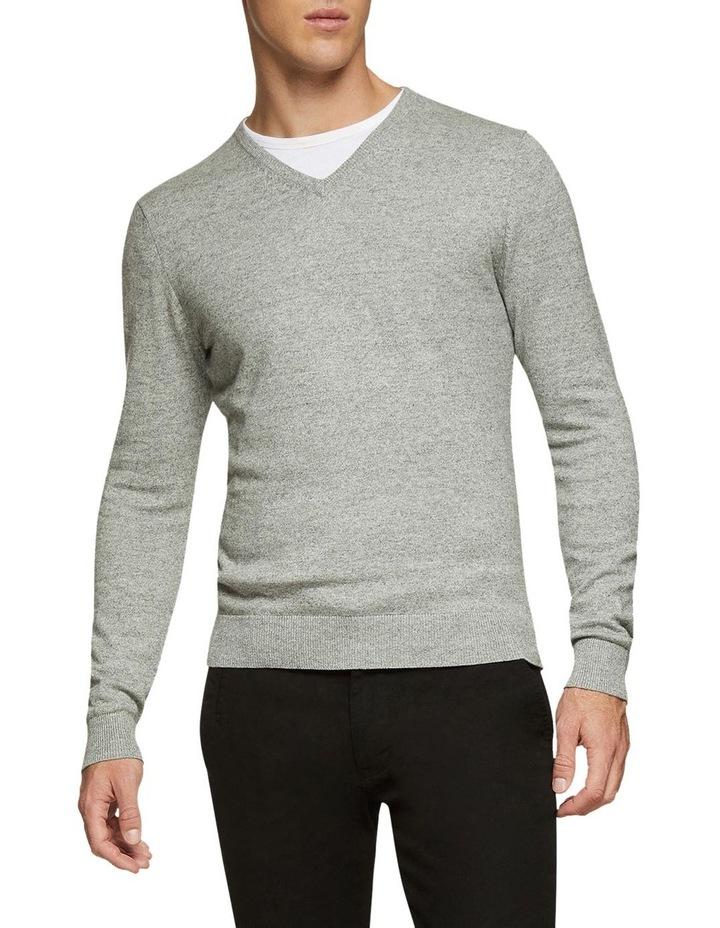 Cotton V-Neck Pullover image 2