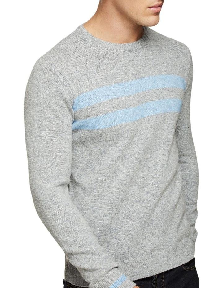 Archie Contrast Stripe Crew Neck image 4